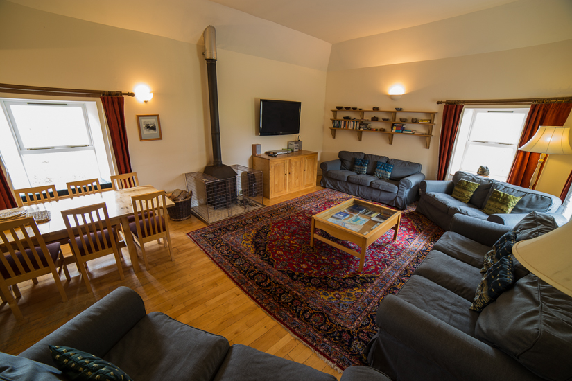 Inside view of the Isle of Mull Self Catering Holiday Home