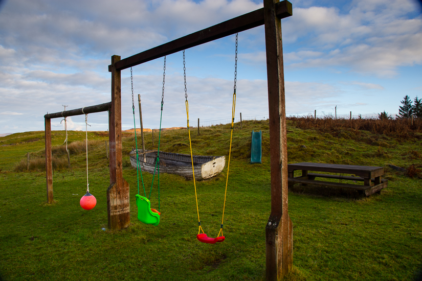 Swings slide and play boat for Children