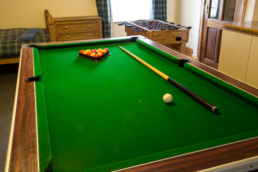 Self Catering Holiday home with pool table