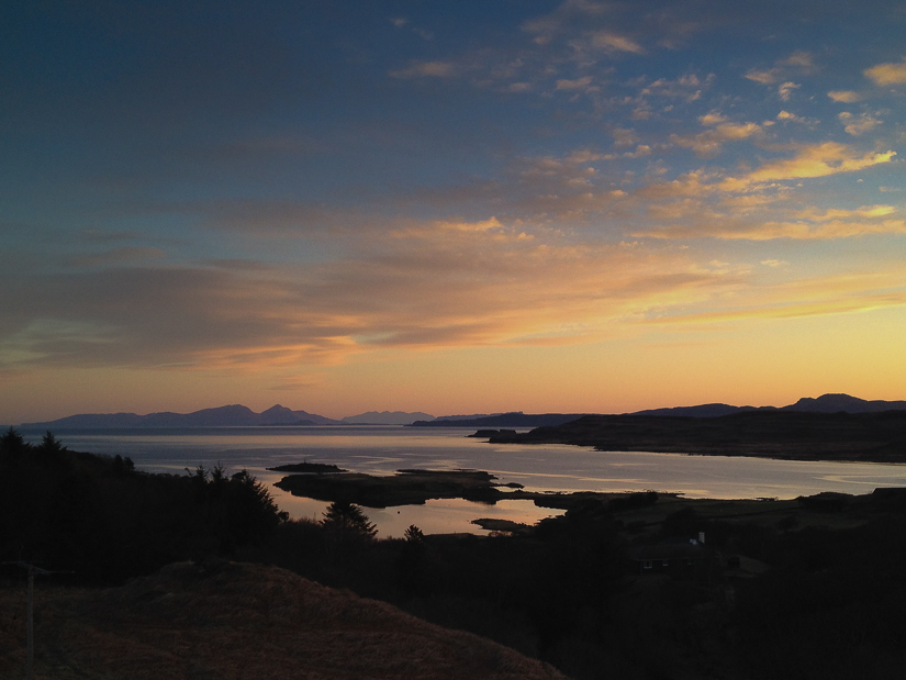 Sunrise from Penmore Self Catering on Mull