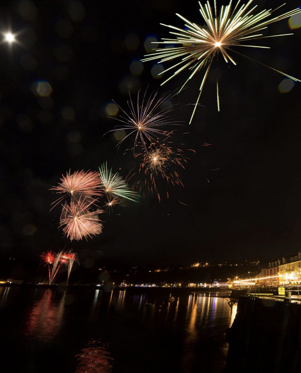 Fireworks and New Year Celebrations on the isle of Mull